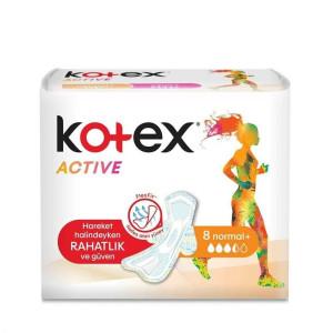 KOTEX ACTIVE 8-LI NORMAL PLUS QADIN BEZI