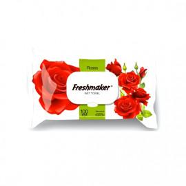FRESHMAKER 100-LU NEM SALFETKA ROSES 18*15