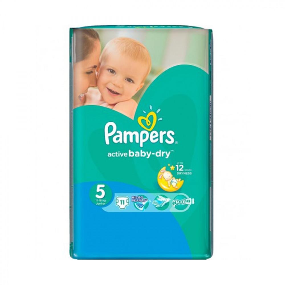 PAMPERS ACTIVE BABY-DRY N5 11-18KG JUNIOR 11-LI