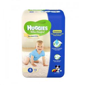HUGGIES ULTRA.COM 4 8-14KG 19LU USAQ BEZI O/U