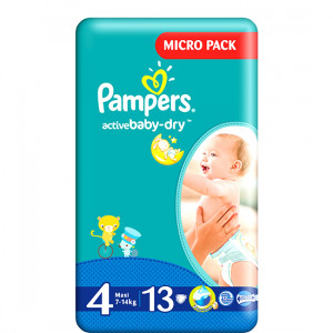 PAMPERS 4 7-14KG 13LU ACTIVE BABY-DRY