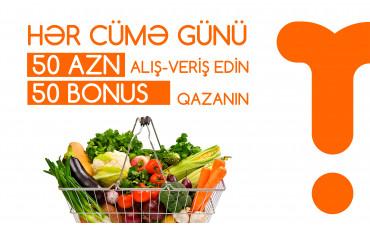 Hər cümə 50 azn 50 bonus