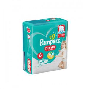 PAMPERS PANTS TRUSIKI N6 15+KG 25-LI USAQ BEZI