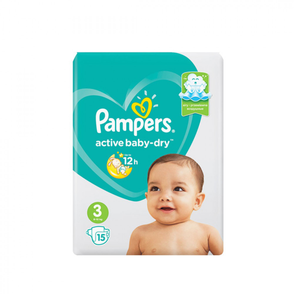 PAMPERS ACTIVE BABY-DRY N3 6-10KG 14-LU