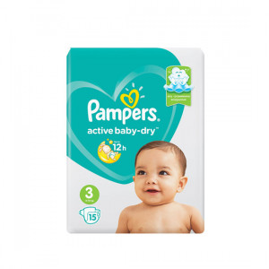 PAMPERS ACTIVE BABY-DRY N3 6-10KG 14-LU